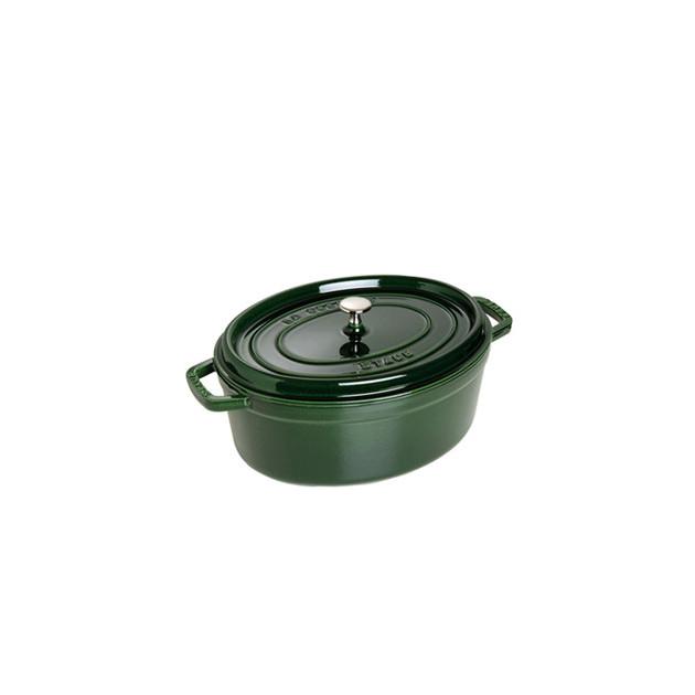 STAUB Cocotte Fonte Ovale 31 cm Vert Basilic Majolique 5.5 L