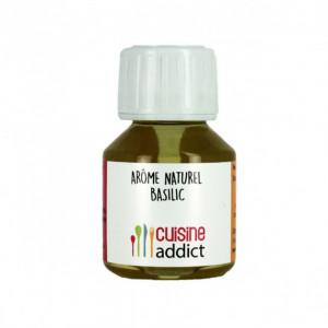 Arôme alimentaire Naturel Basilic 58ml Cuisineaddict