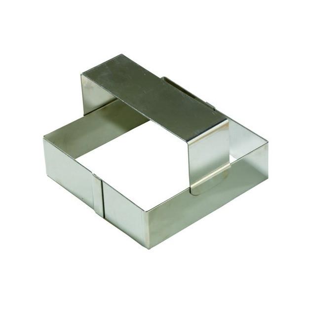 Emporte Piece Carre en Inox 12x12 cm