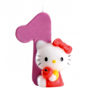 FIN DE SERIE Bougie Hello Kitty Chiffre 1