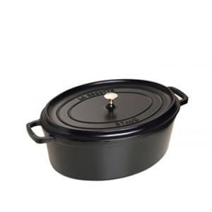 STAUB Cocotte Fonte Ovale 27 cm Noir Mat 3,2 L
