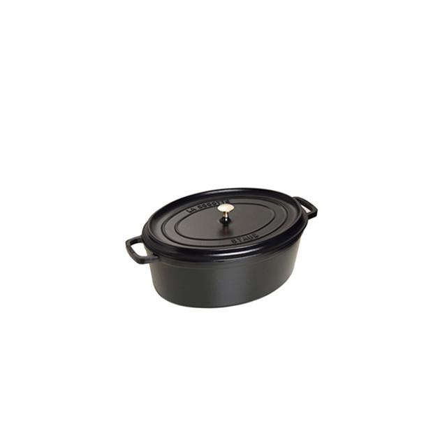 STAUB Cocotte Fonte Ovale 27 cm Noir Mat 3.2 L