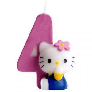 Bougie Hello Kitty Chiffre 4