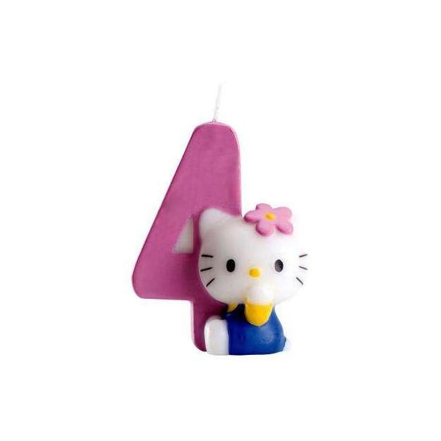 Bougie anniversaire Hello Kitty Chiffre 4