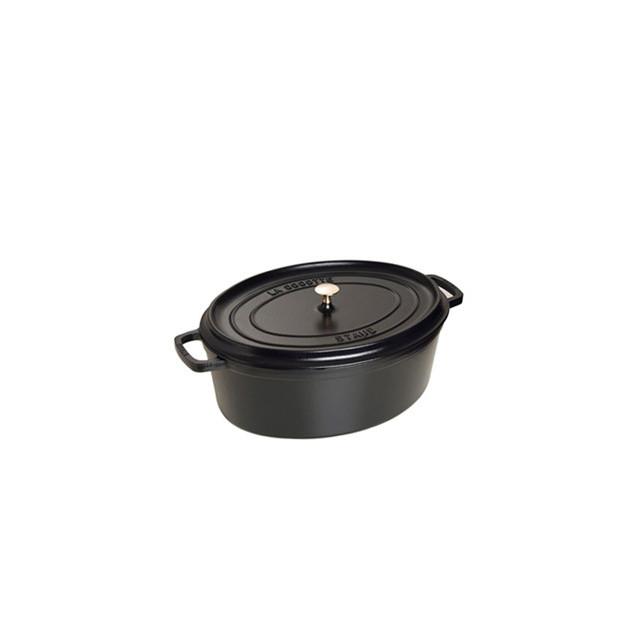 STAUB Cocotte Fonte Ovale 29 cm Noir Mat 4.2 L