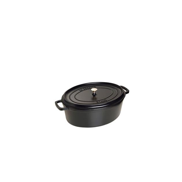 STAUB Cocotte Fonte Ovale 17 cm Noir Mat 1 L