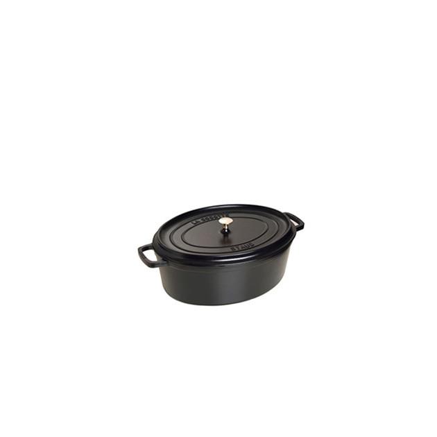 STAUB Cocotte Fonte Ovale 15 cm Noir Mat 0.6 L