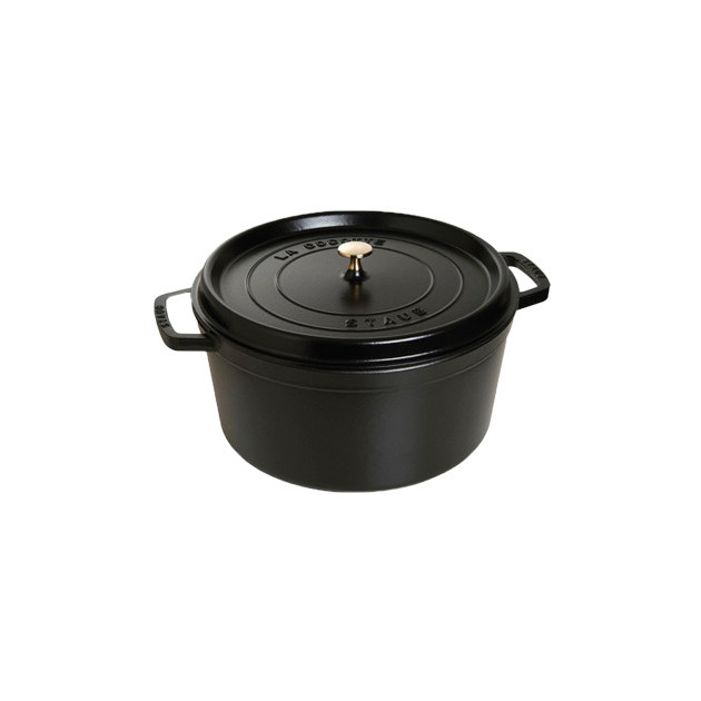 STAUB Cocotte Fonte Ronde 34 cm Noir Mat 12.6 L