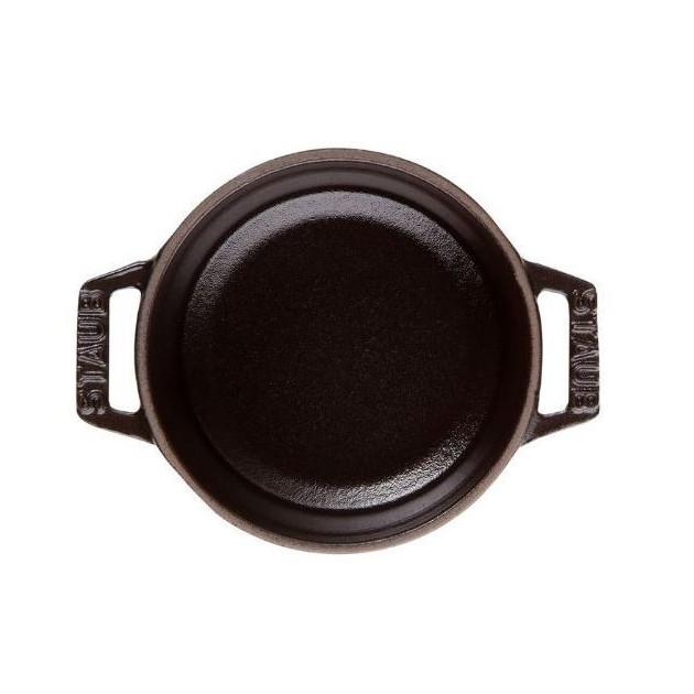 Cocotte ronde en fonte 34 cm Noir 12.6 l