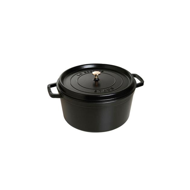 STAUB Cocotte Fonte Ronde 26 cm Noir Mat 5.2 L
