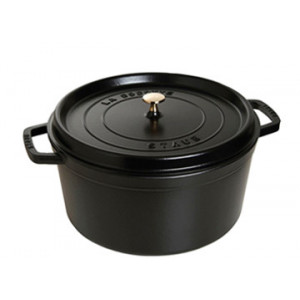 STAUB Cocotte Fonte Ronde 22 cm Noir Mat 2,6 L