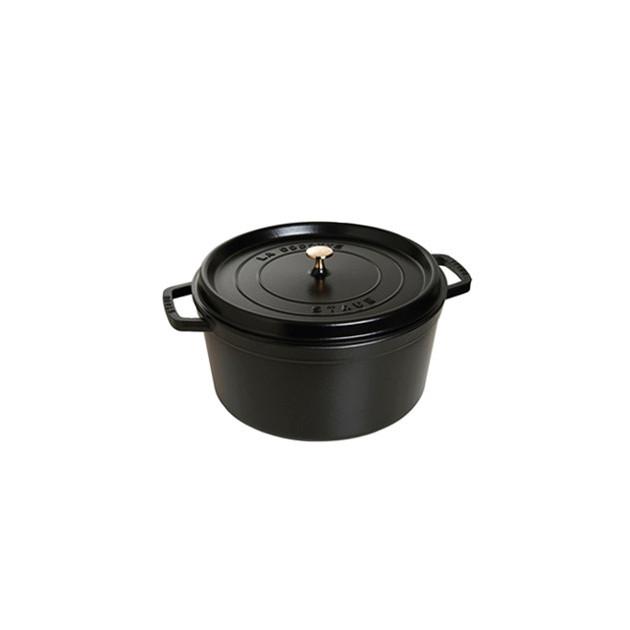 STAUB Cocotte Fonte Ronde 22 cm Noir Mat 2.6 L