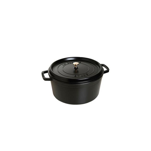 STAUB Cocotte Fonte Ronde 18 cm Noir Mat 1.7 L