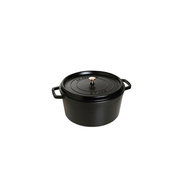 STAUB Cocotte Fonte Ronde 16 cm Noir Mat 1.2 L
