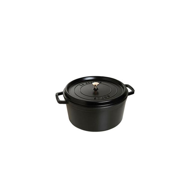 STAUB Cocotte Fonte Ronde 14 cm Noir Mat 0.8 L