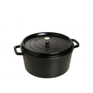 STAUB Cocotte Fonte Ronde 12 cm Noir Mat 0,4 L