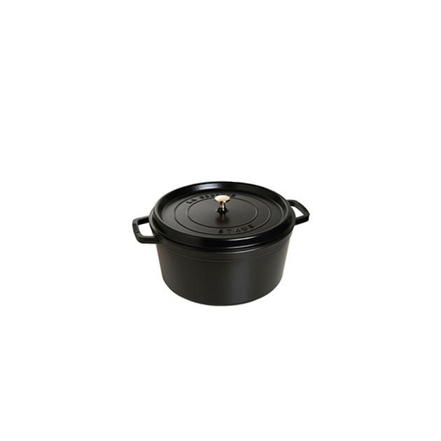 STAUB Cocotte Fonte Ronde 12 cm Noir Mat 0.4 L
