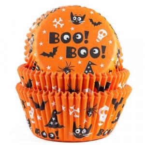 Caissettes Halloween Boo! Boo! (x50)