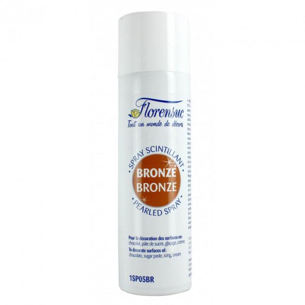 Spray Alimentaire Scintillant Bronze 250 ml Florensuc