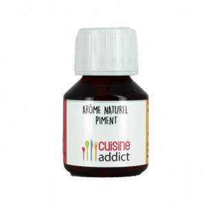 Arôme alimentaire Naturel Piment 58ml Cuisineaddict