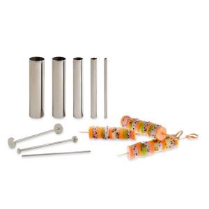 Set Design culinaire, 5 tubes découpoirs + poussoirs
