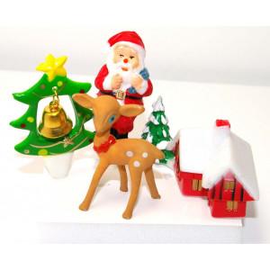 Décorations de bûches de Noël (x4)