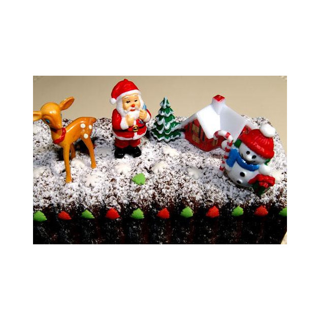 Decorations de Noel pour gateau (x4)