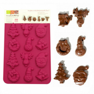 FIN DE SERIE Moule à Chocolat - Friture de Noël Scrapcooking