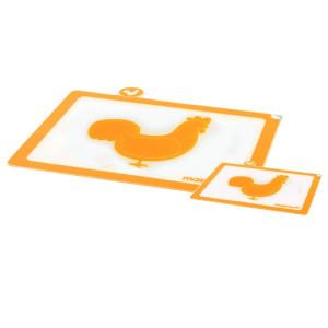 Planche à découper silicone ''Volaille'' (x2)