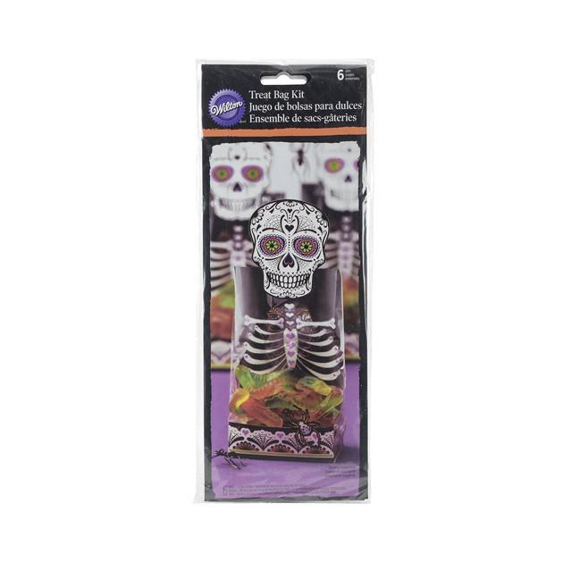 FIN DE SERIE Sachets Surprise Squelette Halloween Wilton