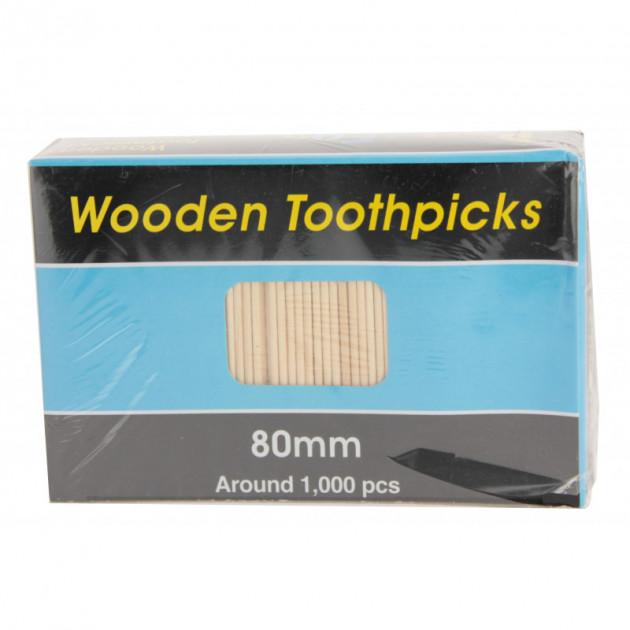 Pique en bois a deux pointes - 80 mm