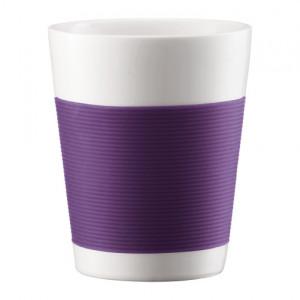 FIN DE SERIE Mug Canteen Double Paroi en Porcelaine 20 cl Violet - (x2)