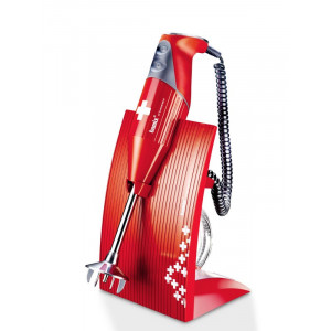 Mixeur Plongeant Bamix M200 SwissLine rouge/croix Suisse