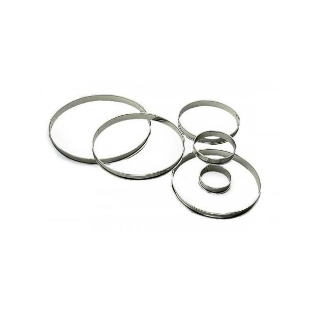 Cercle à Tarte Inox Ø10 cm H.2 cm Bords Roulés Gobel