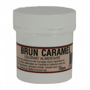 Colorant alimentaire Marron Brun Caramel E102/E129/E151 Poudre Hydrosoluble 20g