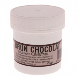 Colorant alimentaire Marron Brun Chocolat E102/E129/E151 Poudre Hydrosoluble 20g