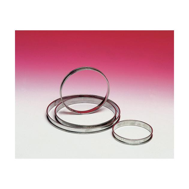 Cercle a tartes Inox sans fond Hauteur 2 cm