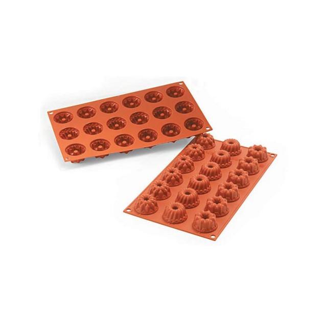 Moule mini Kougloffs assortis en silicone Silcon Flex 18 figures