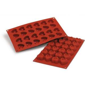 Moule Silicone 24 Savarins Coeurs 3,7 x 3,6 cm Silikomart