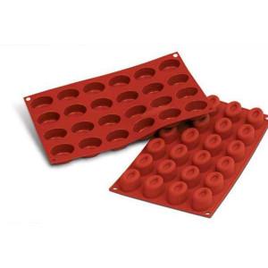 Moule Silicone 24 Savarins Ovales 4,4 x 3,2 cm Silikomart