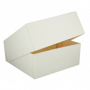 Boîte pâtissière blanche - 16 x H 5 cm - (x50)