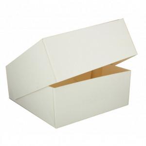 Boîte pâtissière blanche - 25 x H 8 cm - (x50)