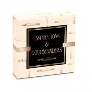 Boîte pâtissière Inspirations et Gourmandises - 20 x H 5 cm - (x50)