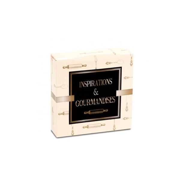 Boîte patissiere Inspirations et Gourmandises - 23 x H 5 cm - (x50)