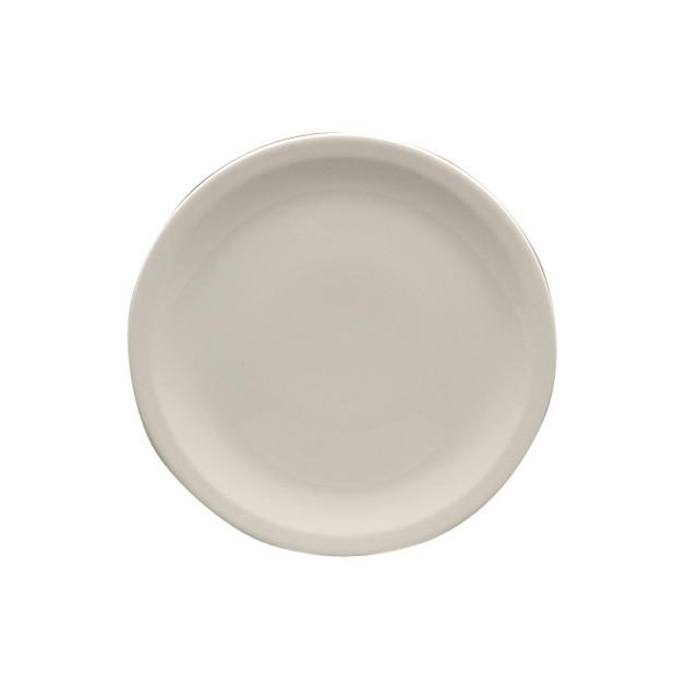 Assiette plate Horizon blanche Digoin Sarreguemines