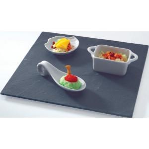 Assiette Ardoise carré 35 X 35 cm par LeBrun