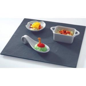 Assiette Ardoise carré 25 X 25 cm par LeBrun