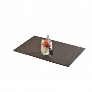 Assiette Ardoise rectangle 20 X 15 cm par LeBrun