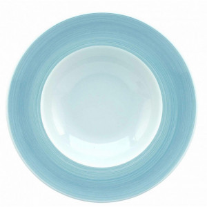 FIN DE SERIE Assiette à pâtes Galice en Porcelaine Gris Perle (Aile) 27 cm
