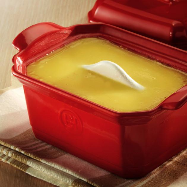 Realisation du foie gras avec la terrine et la presse Emile Henry